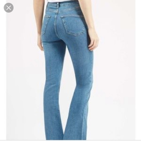 new products for outstanding features release date: Topshop Moto Jamie Flare Jeans High Rise Stretch NWT